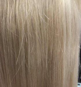 100% натуральные волосы на заколках