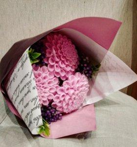Букет цветов из мыла на день рождения, учителю