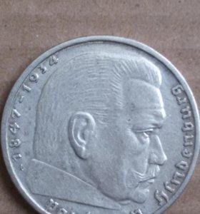 2 марки 1939 год . серебро оригинал !