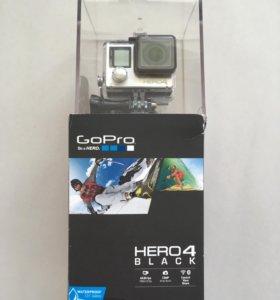 GoPro Hero 4 Black + оригинальные аксессуары