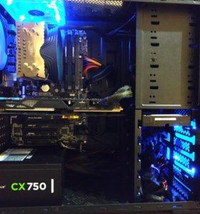 Мощный компьютер с монитором