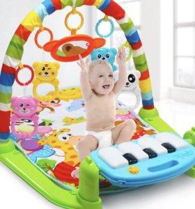 Развивающий детский коврик с пианино