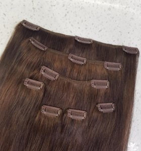 Волосы натуральные, на заколках, 50см