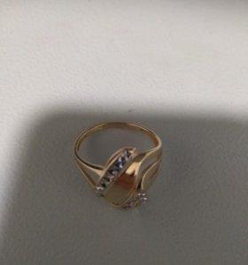 Кольцо золотое 585,размер 18,5