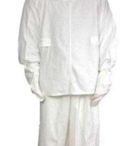 Маскировочный костюм, новый, размер 3, цвет белый.
