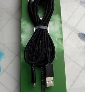 Micro usb кабель длиной 2метра. плетенка. 5v2A