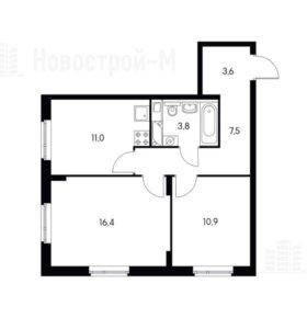 Квартира, 2 комнаты, 53.2 м²