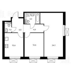 Квартира, 2 комнаты, 64.2 м²