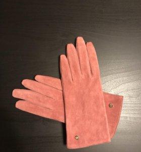Перчатки замшевые женские