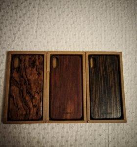 Чехол для iphone Xs и X (премиум/дерево)