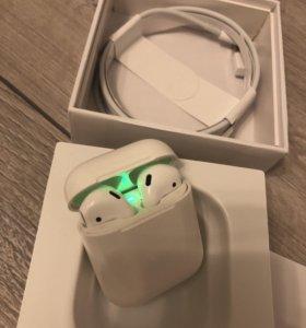 Беспроводные наушники AirPods аир ifans Apple