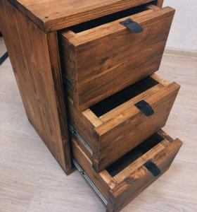 Тумба с ящиками в стиле Лофт (Массив дерева)