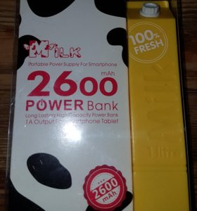 Стильный миниатюрный power bank 2600 mAh