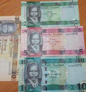 Банкноты Судана.