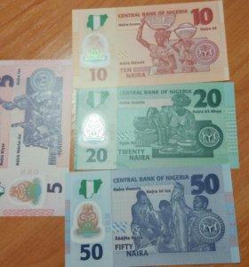 Набор банкнот Нигерии.