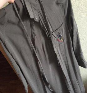 Рубашка ниже колена