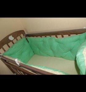 Кровать, матрас, бортики