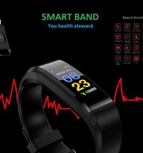Фитнес браслет с пульсометром Smartwatch.