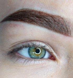Перманентный макияж татуаж бровей губ глаз
