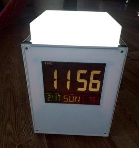 Светильник часы многофункциональный