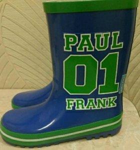 Новые резиновые сапоги paul frank