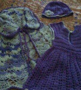 Платье, накидка, шапка