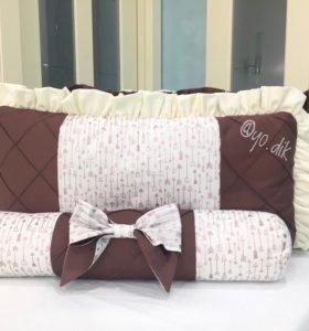 Комплект бортики в кроватку от мастерской Ё.дик