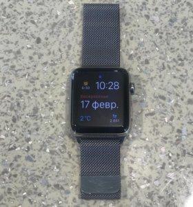 Apple watch series 2, 42 мм сапфир миланская петля