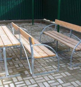 стол и скамейки для дачи