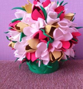 Светильник ночник букет цветов