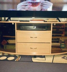 Тумба под телевизор+2 полки+уголок