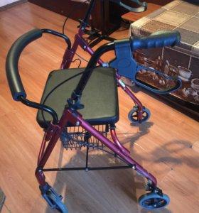Опоры-ходунки на четырёх колёсах