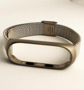 Металлический браслет для Mi Band 3 и Зарядки