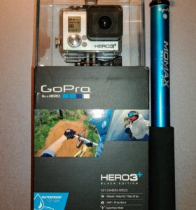 GoPro 3+ Black edition, SD 32Gb, палка
