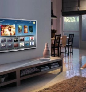 Установка ТВ на стену, настр. и прокладка кабеля