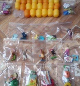 Игрушки из Киндер сюрприза и Барни
