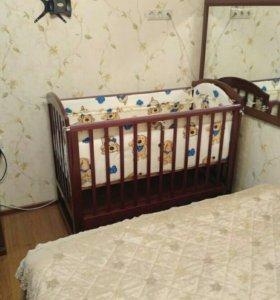 Бортики и постельное для детской кроватки