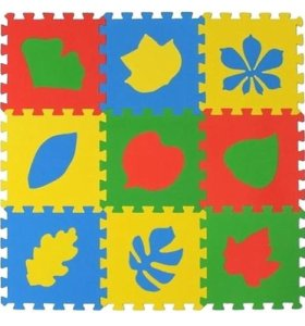 Детский развивающий коврик-пазл