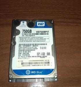 Жесткий диск WD WD7500bpvt 750GB sataii, 2.5