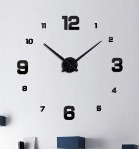 Большие 3d настенные часы. Новые. В коробке