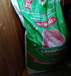 Наполнитель древесный Сибирская кошка 20 кг