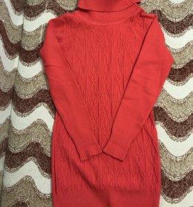 Тёплое зимнее платье