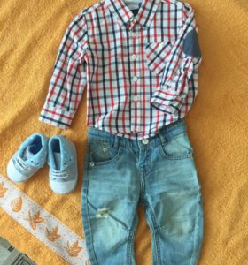 Комплект джинсы+рубашка