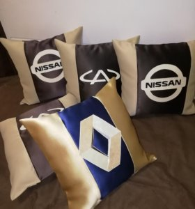 Подушки с надписями и логотипами!!