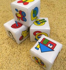 Кубики для купания, прорезыватель, подвеска