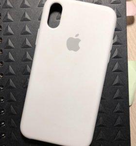 Белый силиконовый чехол на iPhone XS !