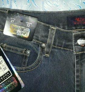 Новые джинсы, стрейч, хлопок, вискоза
