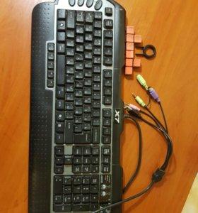 Игровая клавиатура A4 X7-G800 PS/2