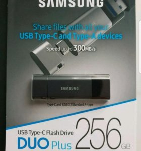 Флешка SAMSUNG 256GB USB DUO Plus. Оригинал