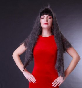 Оренбургский пуховый платок косынка ручной новый